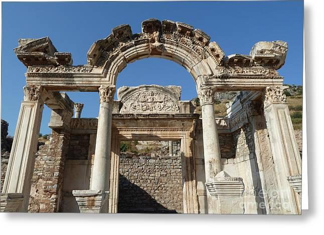 Hadrian Temple Greeting Card