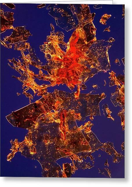 Haemoglobin Crystals Greeting Card