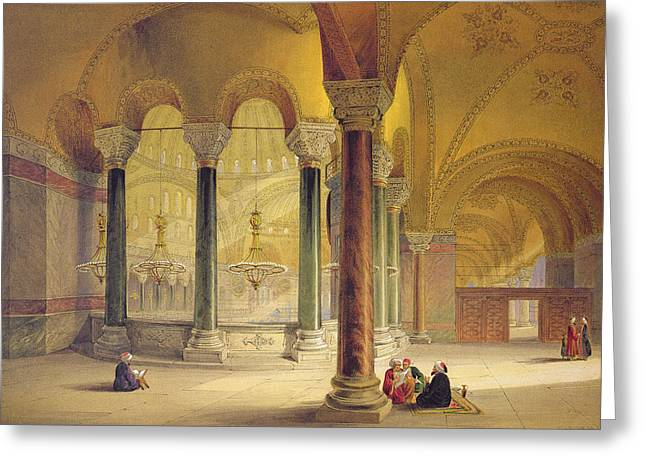 Haghia Sophia, Plate 11 The Meme Greeting Card by Gaspard Fossati