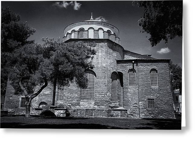 Hagia Irene Greeting Card by Stephen Stookey