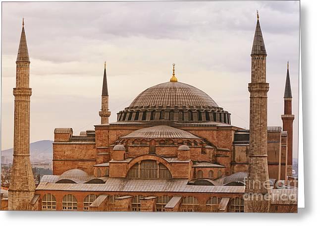 Hagia Sophia 06 Greeting Card by Antony McAulay