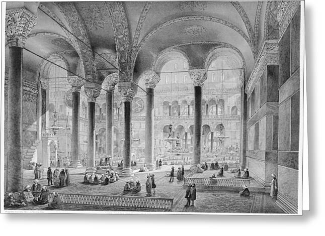 Hagia Sophia, 1852 Greeting Card