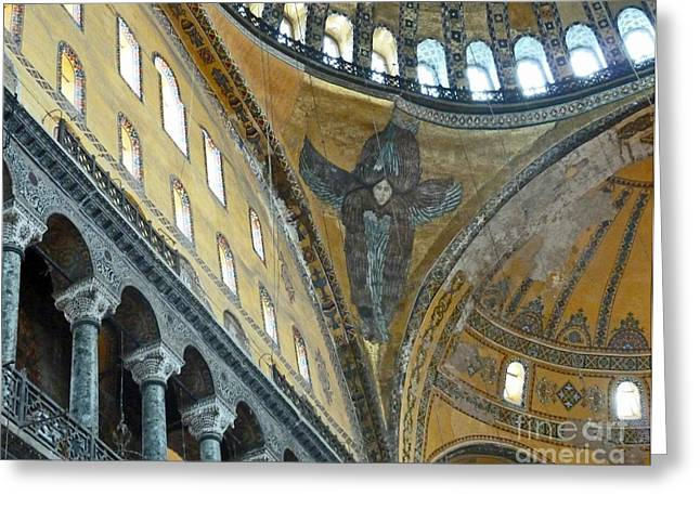 Greeting Card featuring the photograph Hagia Sophia 2 - Istanbul by Cheryl Del Toro