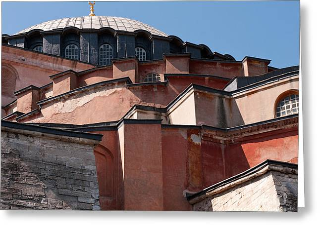Hagia Sophia Angles 01 Greeting Card by Rick Piper Photography