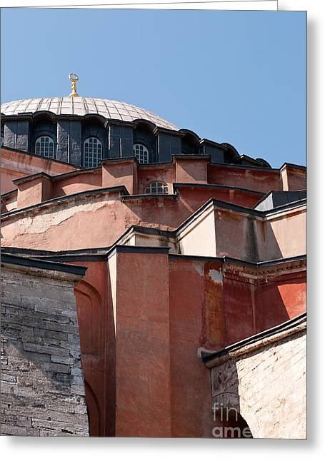 Hagia Sophia Angles 02 Greeting Card by Rick Piper Photography