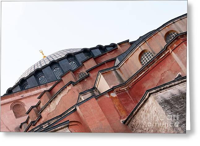 Hagia Sophia Angles 03 Greeting Card by Rick Piper Photography