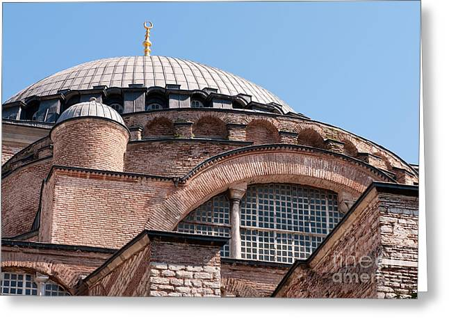 Hagia Sophia Curves 01 Greeting Card by Rick Piper Photography