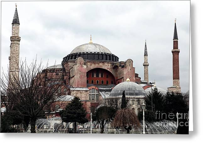 Hagia Sophia Greeting Card by John Rizzuto