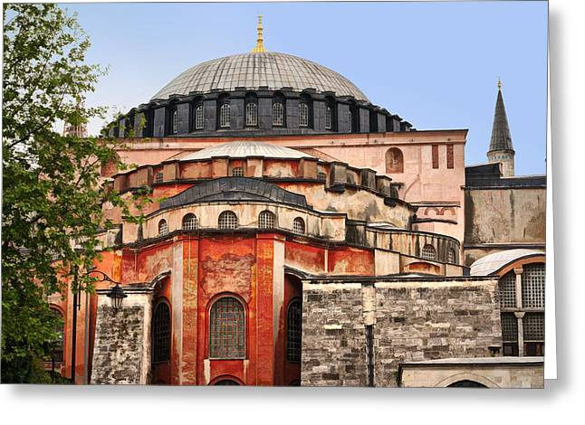 Hagia Sophia Greeting Card by Lutz Baar