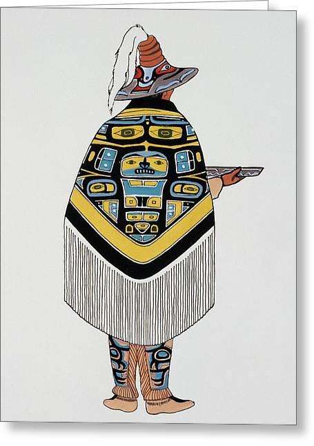 Haida Native American, 1900 Greeting Card