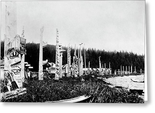 Haida Village, C1880 Greeting Card by Granger
