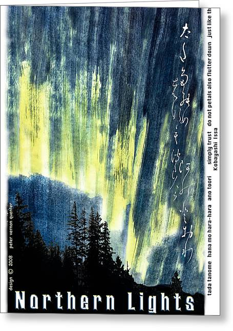 Greeting Card featuring the photograph Haiga Poster Haiku Canada Conference  by Peter v Quenter