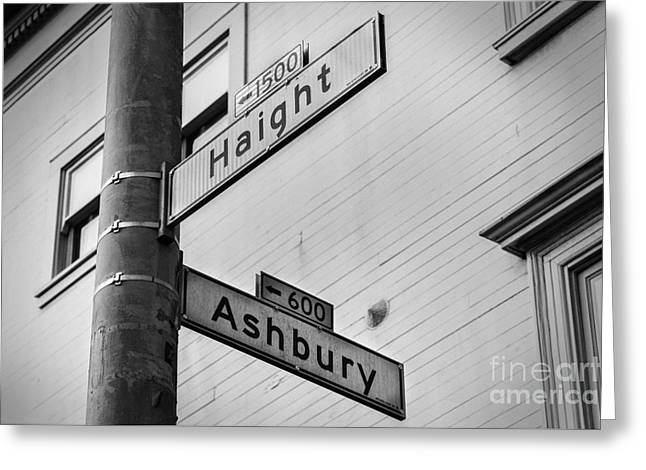 Haight And Ashbury Greeting Card by Jerry Fornarotto