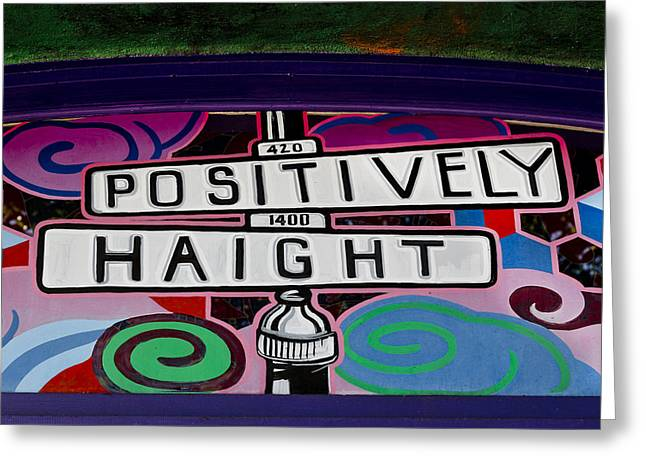 Haight-ashbury Art In San Francisco Greeting Card