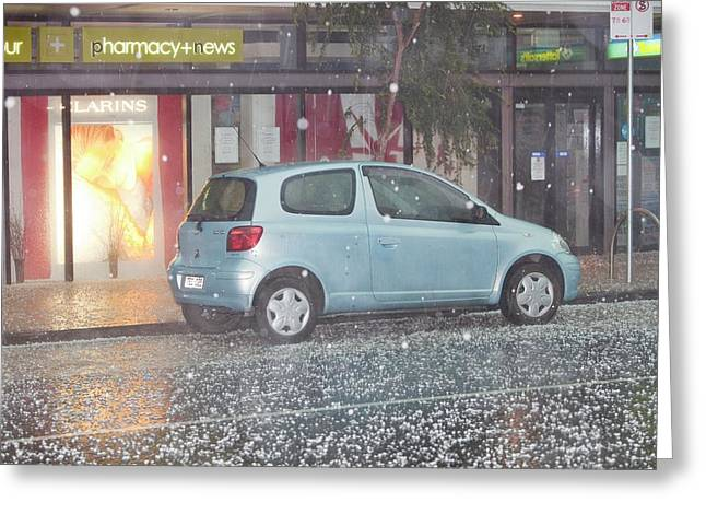 Hail Stones From Damaging Tropical Storm Greeting Card by Ashley Cooper