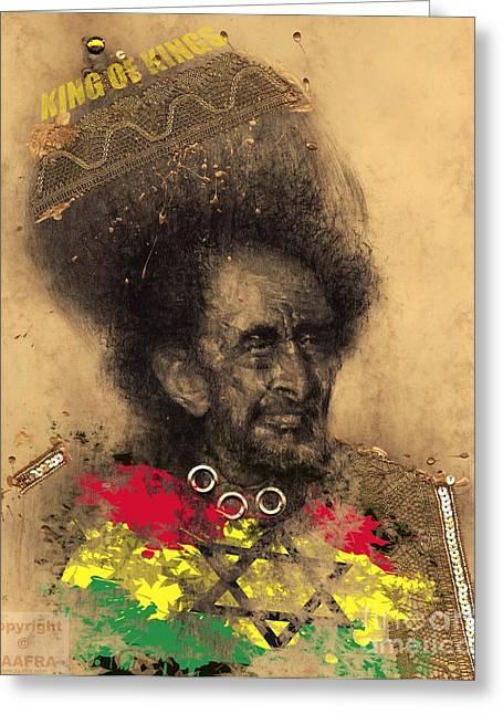 Haile Selassie Greeting Card by Zaafra David