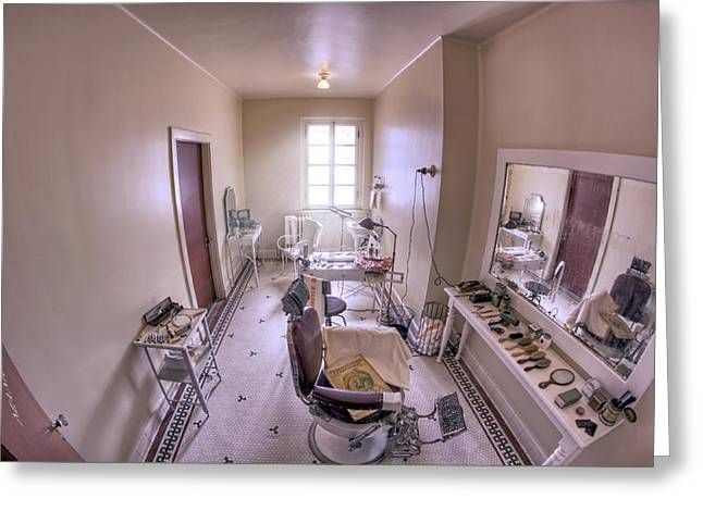 Hair Dressing Room At Fordyce Bath House - Hot Springs - Arkansas Greeting Card