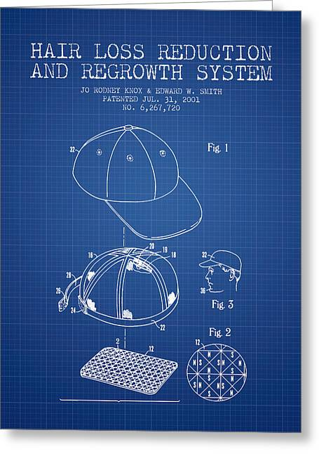 Hair Loss Reduction And Regrowth System Patent - Blueprint Greeting Card