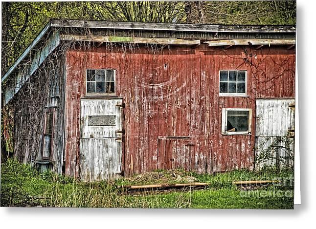 Hairy Red Barn Greeting Card