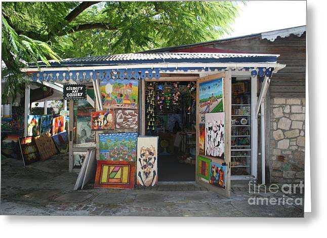Greeting Card featuring the photograph Haitian Art Shack by The Art of Alice Terrill