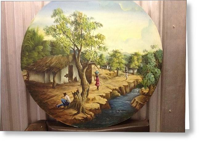 Haitian Landscape Greeting Card