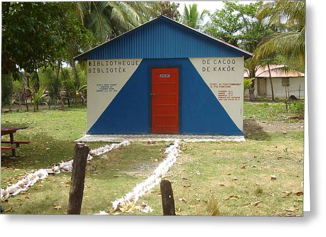 Haitian Library Greeting Card by Donnie Freeman