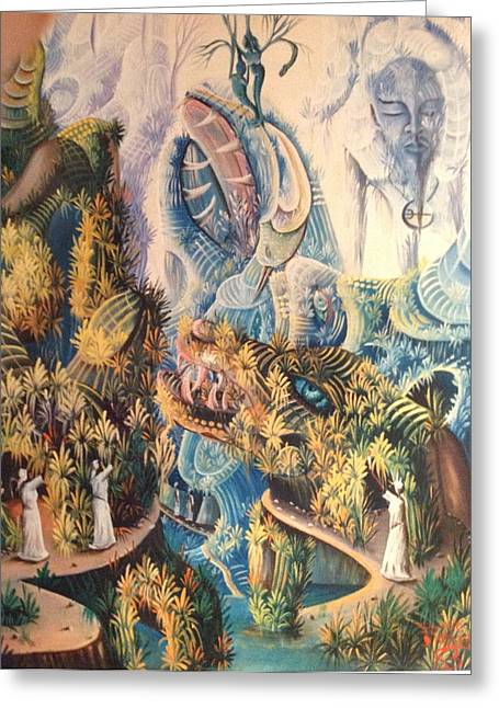 Haitian Mystical Mandscape Greeting Card