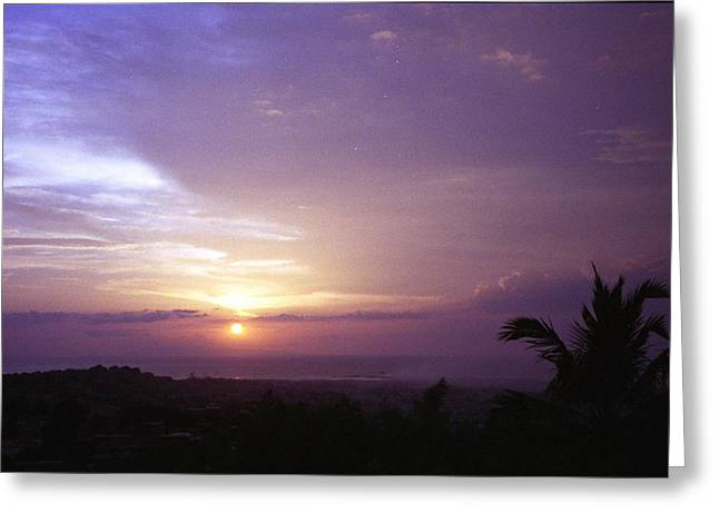 Haitian Sunset Greeting Card by Marianne Miles