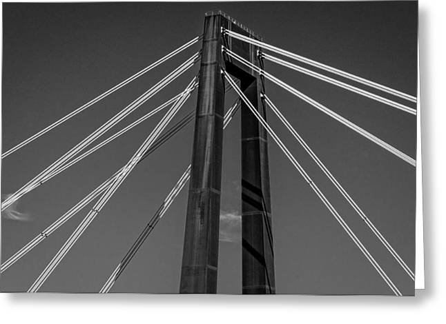 Hale Boggs Memorial Bridge Greeting Card by Andy Crawford