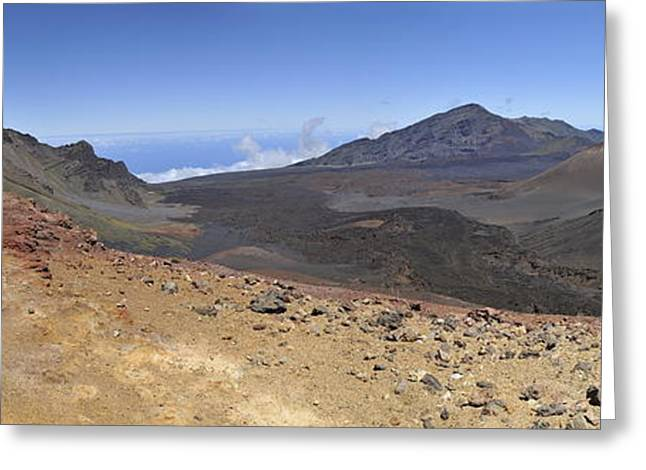 Haleakala Crater Greeting Card by Sami Sarkis