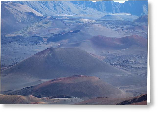 Greeting Card featuring the photograph Haleakala Crater by Sheila Byers