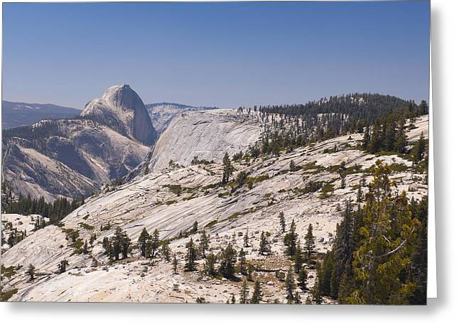 Half Dome And The High Sierra Greeting Card by Richard Berry