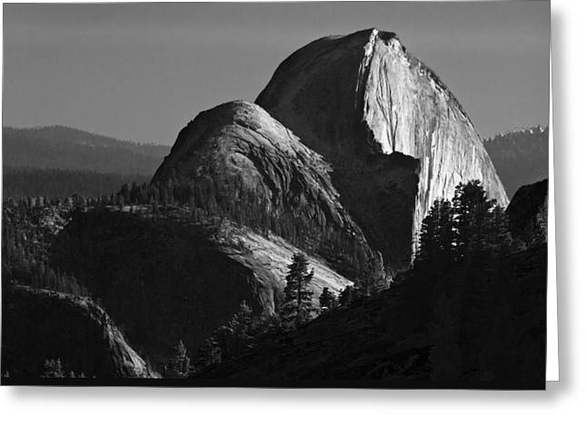 Half Dome At Sunset Greeting Card