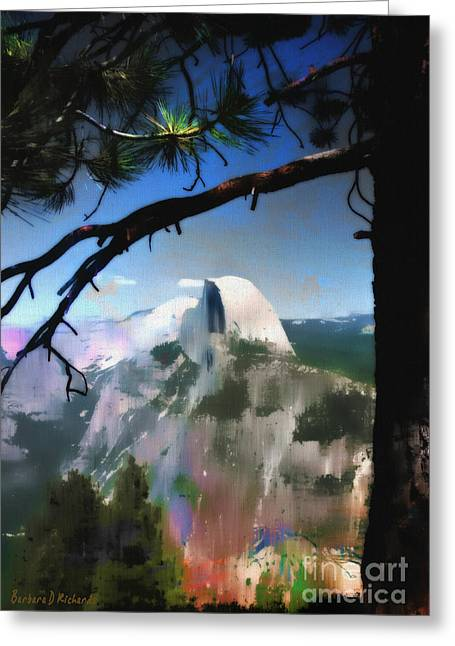 Half Dome Greeting Card by Barbara D Richards