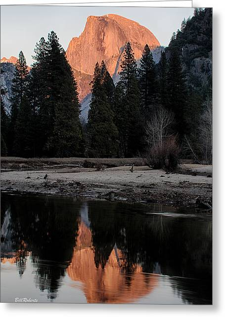Half Dome Greeting Card by Bill Roberts
