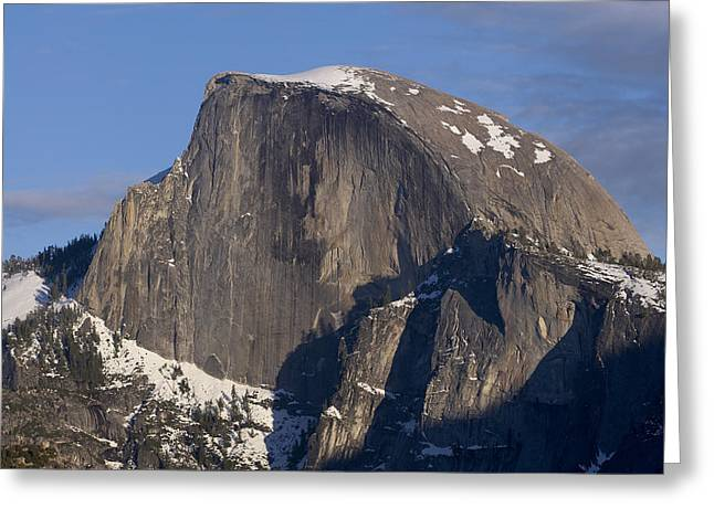 Half Dome Close Up In Winter Greeting Card by Richard Berry