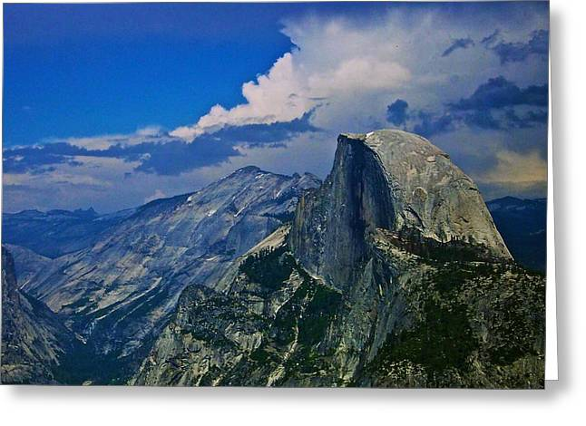Half Dome From Glacier Point Greeting Card by Eric Tressler