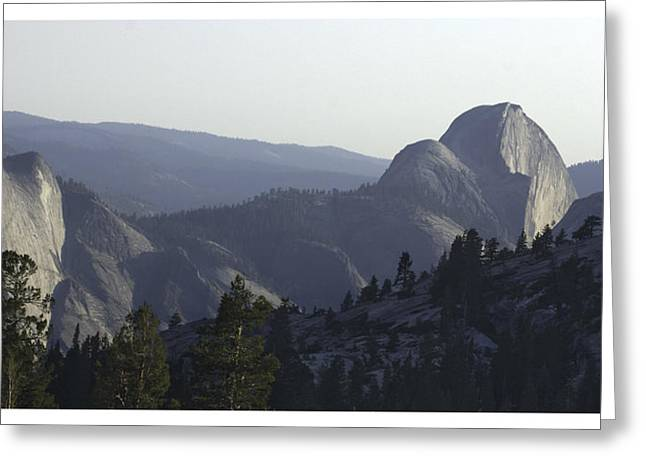 Half Dome From Olmsted Pt Greeting Card