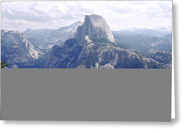 Half Dome High Sierras Yosemite Greeting Card by Panoramic Images