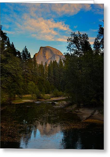 Half Dome In Yosemite Greeting Card by Alex King