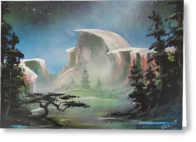 Half Dome Greeting Card by Jim Hurst