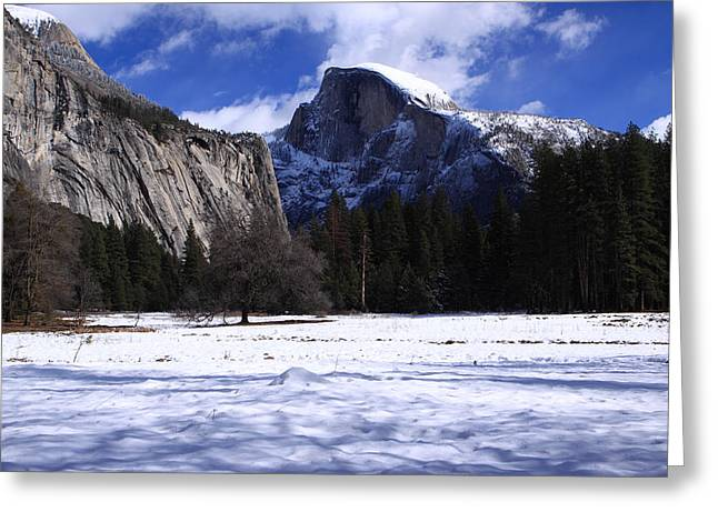 Half Dome Winter Snow Greeting Card by Duncan Selby