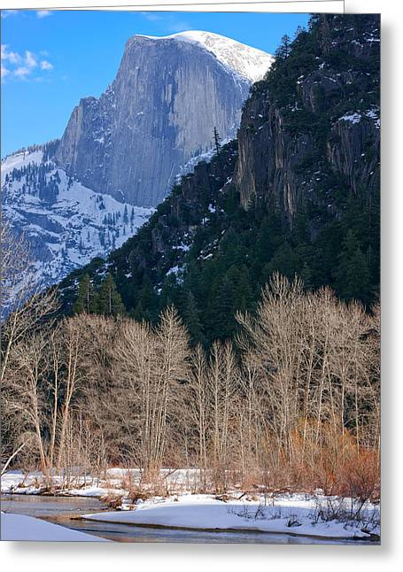 Half Dome - Yosemite Greeting Card by Carl Amoth