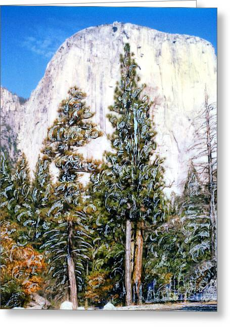 Half Dome Yosimite Park Greeting Card
