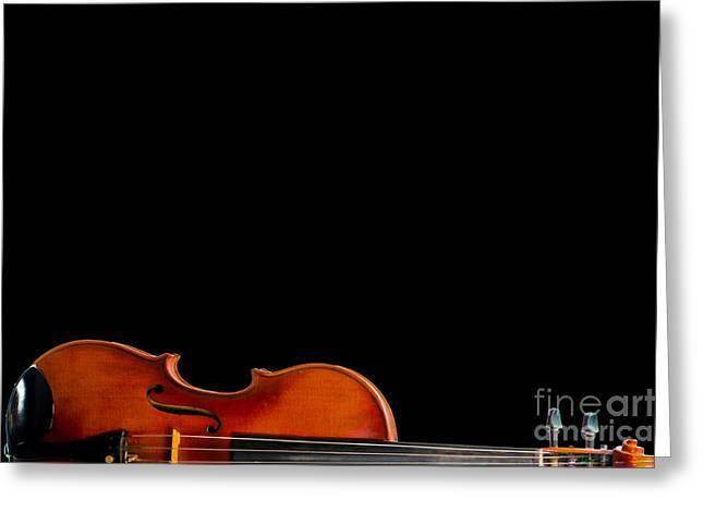 Half Fiddle Greeting Card