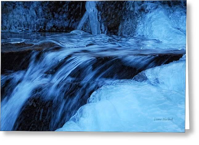 Half Frozen Greeting Card by Donna Blackhall