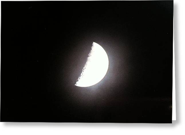 Greeting Card featuring the photograph Half Moon by Alohi Fujimoto