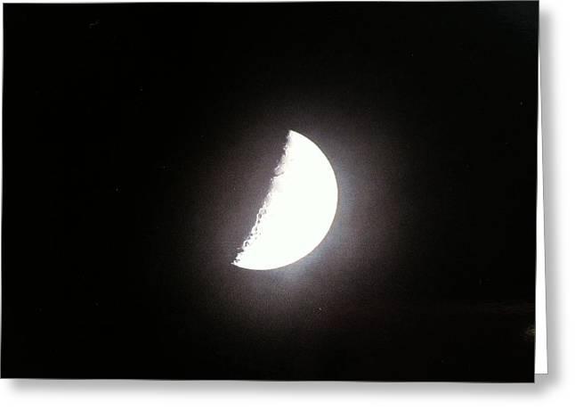 Half Moon Greeting Card by Alohi Fujimoto