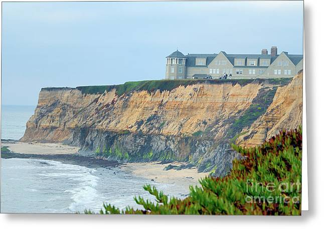 Half Moon Bay Greeting Card by Betty LaRue
