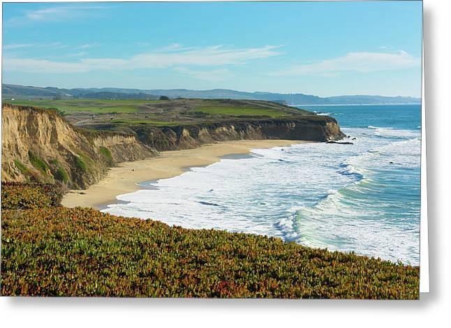 Half Moon Bay, California, Cliffs Greeting Card